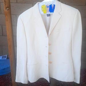 Sz 10 Ralph Lauren cream blazer jacket